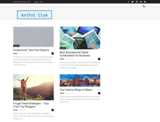 artfulclub.com screenshot