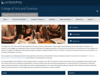 arthistory.case.edu screenshot