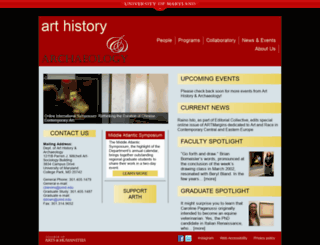 arthistory.umd.edu screenshot