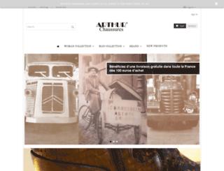 arthur-chaussures.com screenshot