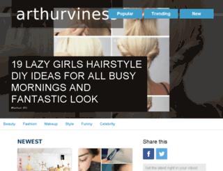 arthurviness.visualfunnies.com screenshot
