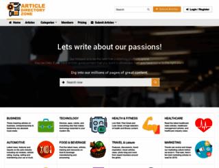 articledirectoryzone.com screenshot