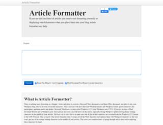 articleformatter.com screenshot
