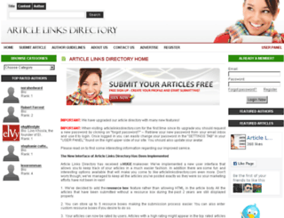 articlelinksdirectory.com screenshot