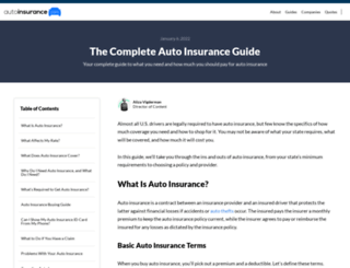 articles.onlineautoinsurance.com screenshot
