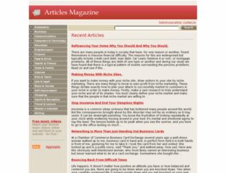 articlesmagazine.com screenshot