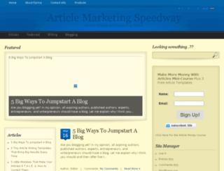 articlespeedway.com screenshot