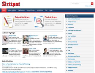 artipot.com screenshot