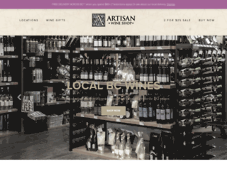 artisanwineshop.ca screenshot