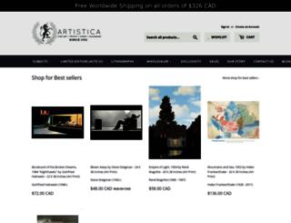 artisticafineart.com screenshot