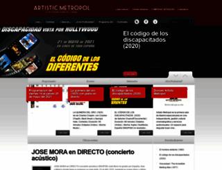 artisticmetropol.es screenshot