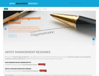 artistmanagementresource.com screenshot