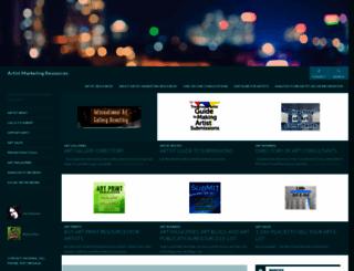 artistmarketingresources.com screenshot