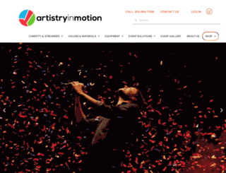 artistryinmotion.com screenshot