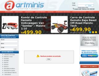 artminis.com.br screenshot