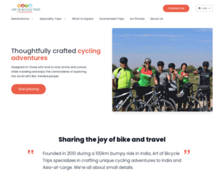 artofbicycletrips.vacationlabs.com screenshot