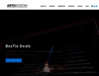 artsboston.org screenshot