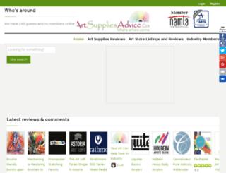 artsuppliesadvice.com screenshot