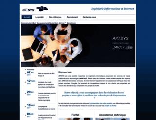 artsys.fr screenshot
