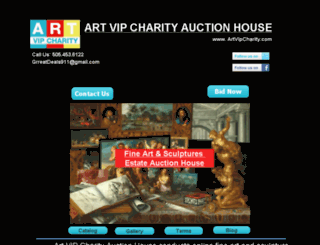 artvipcharity.com screenshot