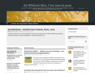 artwithoutskin.com screenshot