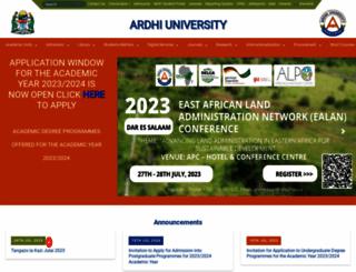 aru.ac.tz screenshot
