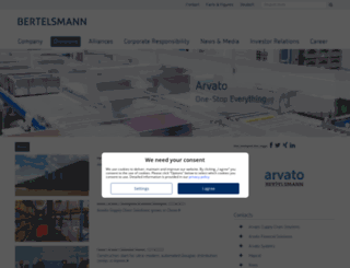 arvato.com screenshot