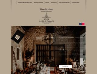 arvieux-provence.com screenshot