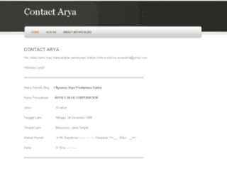 aryasukha.weebly.com screenshot