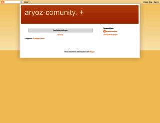aryoz-comunity.blogspot.com screenshot