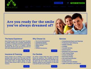 asanadental.com screenshot