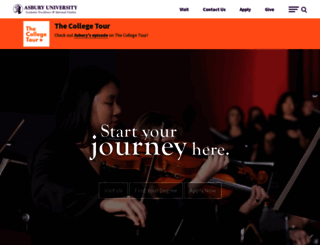 asbury.edu screenshot