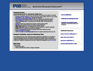 Access asc.fasb.org. FASB Accounting Standards Codification®