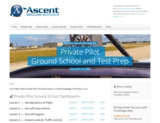 ascentgroundschool.com screenshot