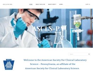 ascls-pa.org screenshot