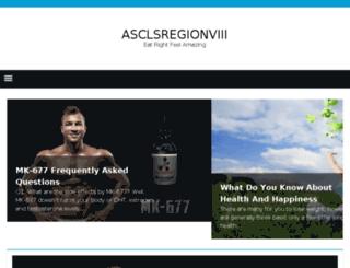 asclsregionviii.org screenshot