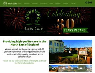 ascotcare.co.uk screenshot