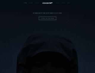 asgeirmusic.com screenshot