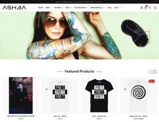 ashbaclothing.com screenshot
