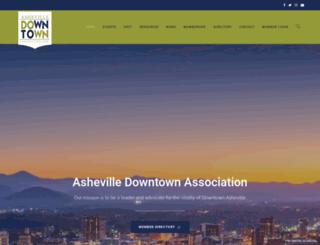 ashevilledowntown.org screenshot