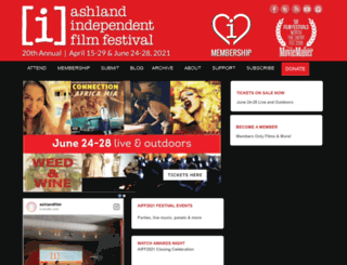ashlandfilm.org screenshot