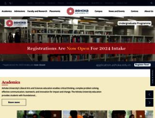ashoka.edu.in screenshot