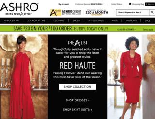 ashro.com screenshot