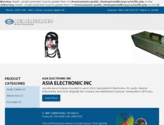 asiaelectronicsincfl.com screenshot