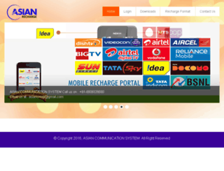asianrecharge.in screenshot