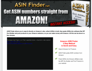 asinfinder.net screenshot