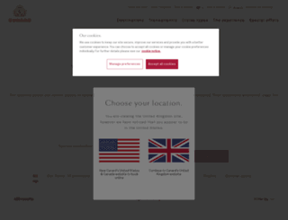 ask.cunard.com screenshot