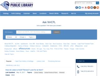 asknhcpl.nhclibrary.org screenshot