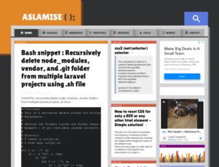 aslamise.blogspot.in screenshot