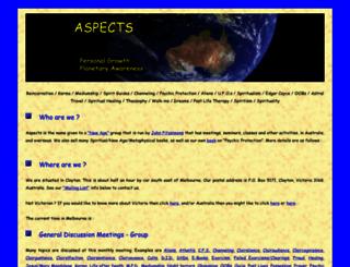 aspects.org.au screenshot